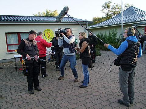 NDR-Team bei der DM Feld/Wald